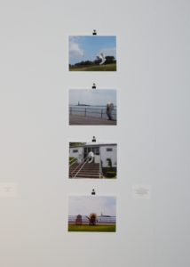 """Lan Cheung's """"Documentation of David Colosi's 'The Life And Thoughts Of A Retired Apostrophe,"""" Governors Island, NY, 2010'""""."""