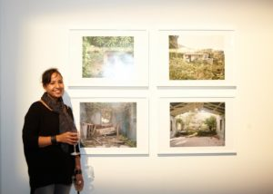 """Stacey Tyrell's photographs """"Benji"""", """"House on Saddle Hill"""", """"Kitchen on Pond Hill"""", and """"Church on Pond Hill."""""""
