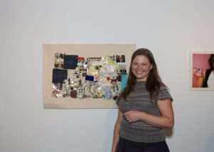 """Stacey Hirvela with her collave, """"Urban Archaeology, 2002-2005"""""""