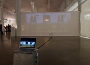 "Lynn Maharas, Mark Bruels, and Erik Burke's interactive piece, ""Ghost Train."""