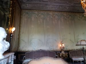 Even antique wall paper was bought in Europe and used in Vizcaya.