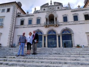 Vizcaya was designed with its grandest façade facing the water in the manner of the great mansions of the Veneto region of Italy.  Here I am with Ian Simpkins, Chief Horticulturist and Dennis Fruitt.