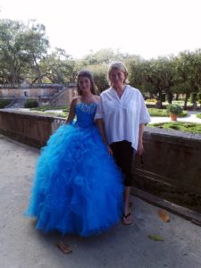 Vizcaya is a popular photography spot for local girls' quinceaneras, a celebration of their 15th birthday.  Ashley Perez is celebrating her 15th birthday with a photo shoot at Vizcaya.