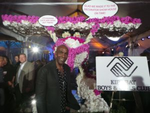This was the night before at the opening gala for the Kips Bay Boys & Girls Club Decorator Show House.  This is event designer and wedding planner Preston Bailey, who did the decorating of the party tent on a very, very rainy night, which did not keep the crowds away.