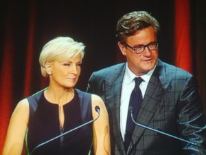 Mika Brzezinski and Joe Scarborough from Morning Joe were the Masters of Ceremony and they were fantastic!
