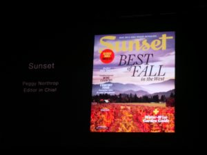 Sunset was the winner for General Interest, Service and Lifestyle.  Accepting was Peggy Northrop, Editor in Chief.