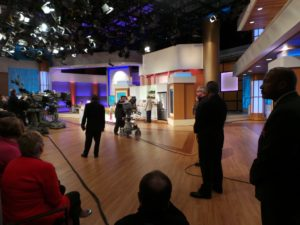 Here's the stage at NBC Studios in Chicago where Steve Havey Show is taped.