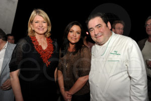 Here I am with Rachael Ray and Emeril. Seth Browarnik/WorldRedEye.com