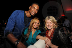 Basketball star - Chris Bosh, Adrienne Williams, and Me Seth Browarnik/WorldRedEye.com