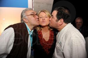 My friends, Alain Ducasse and Emeril Seth Browarnik/WorldRedEye.com