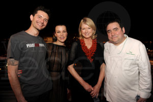 Foodie Gabriele Corcos and wife - Debi Mazar - actress, me, & Emeril Lagasse Seth Browarnik/WorldRedEye.com