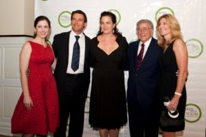 Sing for Hope Co-Founding Director Camille Zamora with Donor Artists Nathan and Julie Gunn and Honoree Tony Bennett with wife Susan Benedetto   Photo credit - Sing for Hope Donor Artist Nan Melville