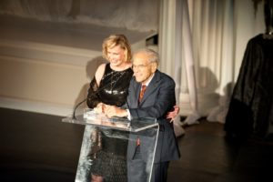 Words of welcome by Gala Chairs Judi and Joseph Flom   Photo credit - Sing for Hope Donor Artist Nan Melville