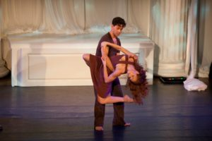 Emily Oldak and Javier Baca danced beautifully.   Photo credit - Sing for Hope Donor Artist Nan Melville