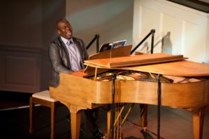 Actor/singer - Tituss Burgess sang Charlie Small's 'Believe in Yourself' from The Wiz.   Photo credit - Sing for Hope Donor Artist Nan Melville