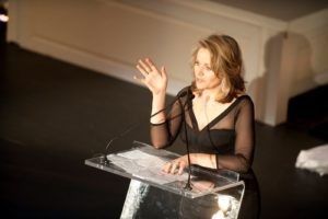 Remarks by Renee Fleming - Sing for Hope Board Member and 2009 Sing for Hope Honoree   Photo credit - Sing for Hope Donor Artist Nan Melville