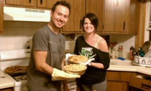 Nick Aleck and Jenna Hickok from Chicago, IL baked apple pies using recipes from my website for their Christmas party.