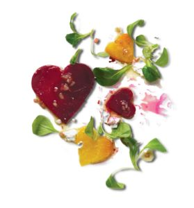 And a heart-shaped roasted beet salad