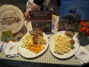Tasty Cabot Cheese samples for the shoppers  http://www.cabotcheese.coop/