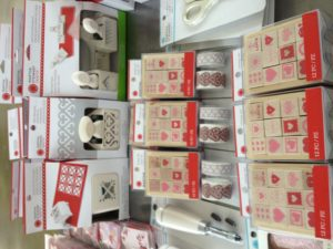 Valentine punches and stamp sets