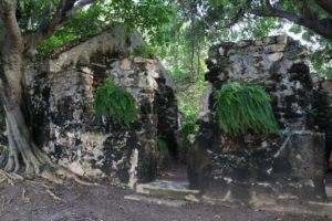 There are ruins of the original mill, remnants of slave quarters, and other plantation buildings scattered over the property.