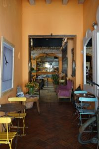 Small cafes abound, often found in the entrance halls of larger food establishments or hotels.