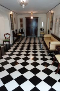 The black and white marble floor is fabulous!