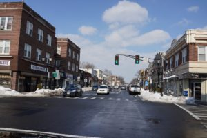 Center Street and Franklin Avenue - a major intersection