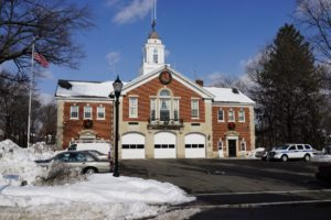 This is the Nutley Fire Station, where I remember sliding down the fireman's pole and visiting with the firemen to learn about fighting fires.