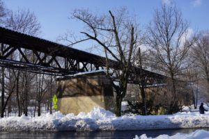 The Lackawana Railroad was highly elevated through parts of town.  The tracks always held a mysterious attraction for us kids and we would be tempted to sneak up to the tracks, from time to time.