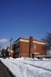 From Elm Place, we turned onto Brookfield Avenue and back onto Yantacaw Place.  This is Yantacaw School, where I studied for seven happy years.  I loved this school and I participated in as many activities as my schedule would allow.