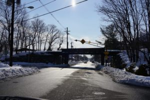 This is the trestle over Franklin Avenue, the main street in town.  This train track took commuters to New York City.