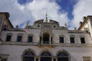 This is the east façade of Vizcaya's Main House, which was designed after an Italianate villa.