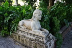 This sphinx reminded me of the pair at Skylands, my home in Maine.