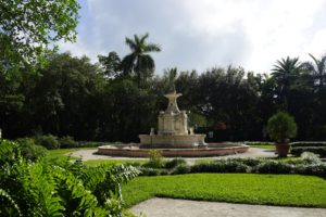 The Rose Garden is also known as the Fountain Garden because of this 16th-century Italian fountain at its center.  Surrounded by a protective Mangrove forest, the Sutri Fountain is the crowning jewel of the gardens, and recently restored with a grant from the Tiffany Foundation.