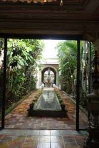 This used to be a section of the old driveway - now a beautiful courtyard with a water feature.