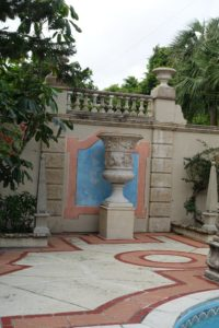 John also added this urn to the outdoor pool area.