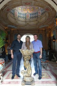 Here, I am joined by Cameron Neth and Bill Eberhardt. We are standing behind a Blackamoor mermaid purchased in Miami Beach.