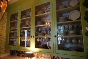 This is the butler's pantry, filled with all the china John and Bill collected over the years.