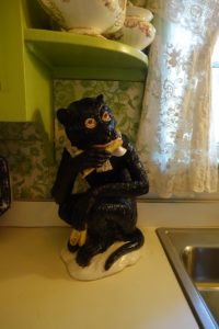 A whimsical Majolica monkey Bill and his boyfriend, Cameron, found at a Miami Beach antiques show. Cameron is a designer who also shares Bill's love for European antiques.