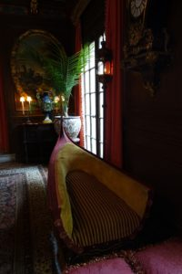 And an authentic Venetian gondola, which was made into a settee.