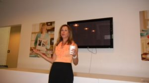 Liz Aiello spoke to the interns about all the different radio shows produced at the station.