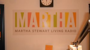 This is the Radio Room at Starrett where I chat live for my show, Ask Martha.