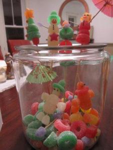 Stephanie Goodell made gumdrop lollipops, which were featured in my December Living magazine.