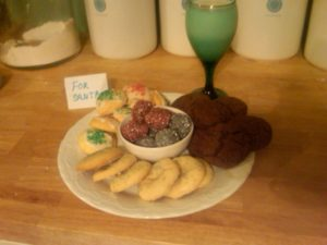 John Roberts from Warren, MI baked rum balls, angelettis, lemon wreath cookies and Mexican hot chocolate cookies, all of which are recipes from my website.