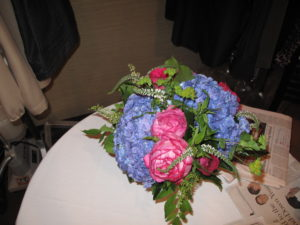 The flowers in my greenroom were bright and beautiful.