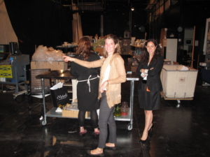 Backstage with Judy and our team getting everything styled and ready.