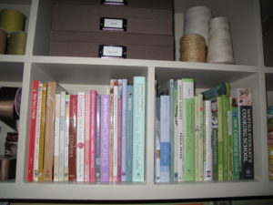 There were even Martha Stewart books, including Cupcakes, Encyclopedia of Sewing and Fabric Crafts, Encyclopedia of Crafts, and the Cooking School.
