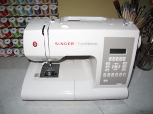 And, of course, a Singer Confidence sewing machine was set up in the craft room.