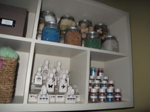 Michaels helped create this craft room and made sure that our favorite glitter and paper punches from my craft line at Michaels were on the shelves.